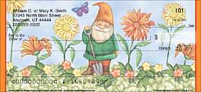 Garden Gnomes Personal Checks