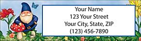 Garden Gnomes Return Address Label