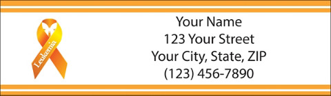 Leukemia Awareness Orange Ribbon Return Address Labels