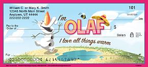 Olaf in Summer Personal Checks