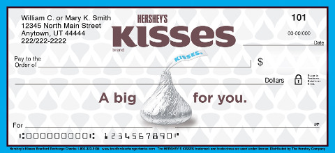 Hershey's Kisses Personal Checks