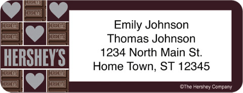 Hershey's Chocolate Address Labels