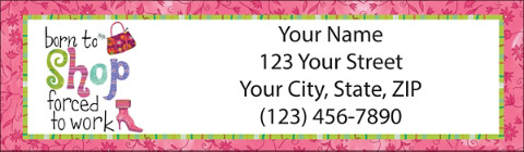 Born to Shop Return Address Label