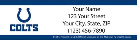 Indianapolis Colts NFL Return Address Label 1800946011