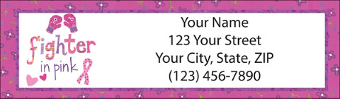 BCA Fighter in Pink Return Address Labels