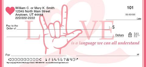 Sign Language Personal Checks
