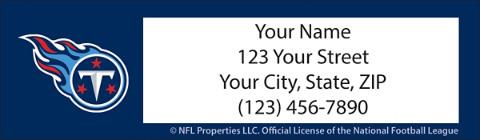 Tennessee Titans NFL Return Address Label 1800975011