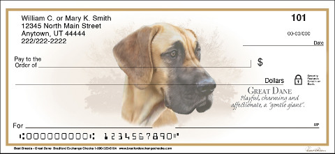 Great Dane Best Dog Breeds Personal Checks