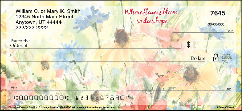 Blooming Flowers Personal Checks