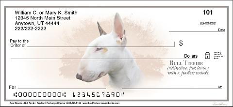 Bull Terrier Best Breeds Personal Checks