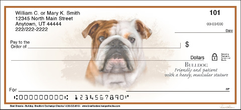 Best Breeds - Bulldog Personal Checks