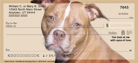 Pit Bull Faithful Friends Personal Checks