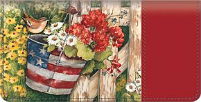 American Blossoms Checkbook Cover