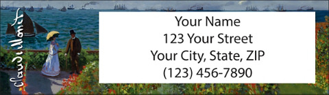 Monet: Seascapes Return Address Label