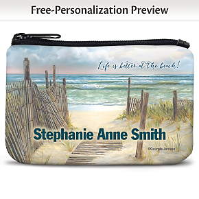 A Walk on the Beach Coin Purse