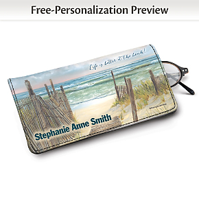 A Walk on the Beach Eyeglass Case