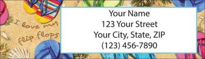 Flip Flops Return Address Label