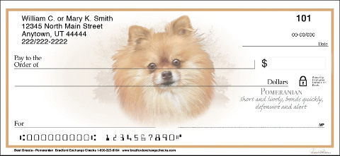 Best Breeds - Pomeranian Personal Checks