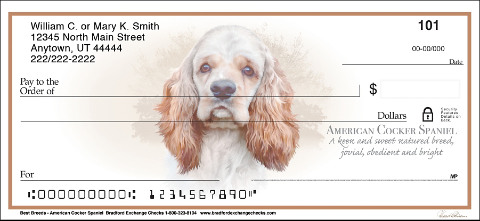 Best Breeds - Cocker Spaniel Personal Checks
