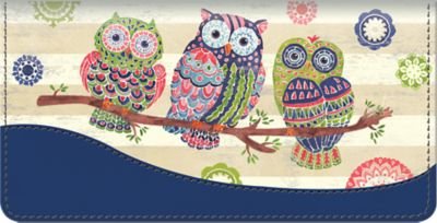 Groovy Owls Checkbook Cover