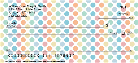 Pretty Polka Dots Personal Checks 1801068001