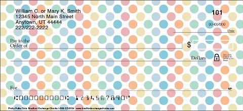 Pretty Polka Dots Personal Checks