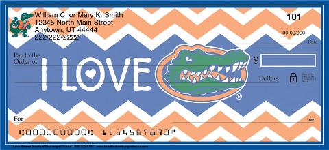I Love Gators Chevron Personal Checks