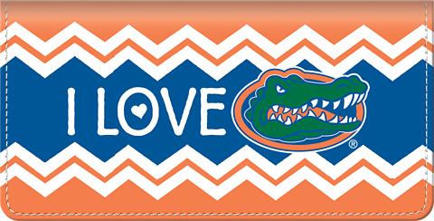 I Love Gators Chevron Checkbook Cover