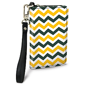 Green and Gold Chevron Small Wristlet Purse (1801110085) photo