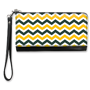 Green and Gold Chevron Large Wristlet Purse (1801110086) photo