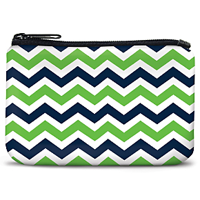 Blue and Green Chevron Coin Purse (1801111080) photo
