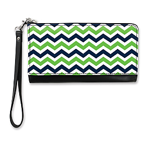 Blue and Green Chevron Large Wristlet Purse (1801111086) photo