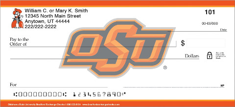 Oklahoma State University(R) Personal Check 1801132001
