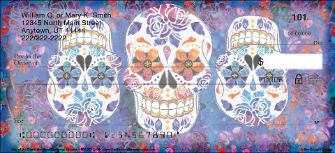 Day Of The Dead Sugar Skulls Personal Checks