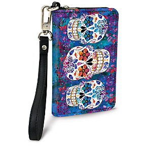 Day of the Dead Small Wristlet Purse