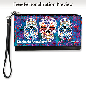 Day of the Dead Large Wristlet Purse