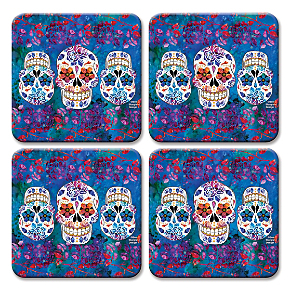 Day of the Dead Coaster Set