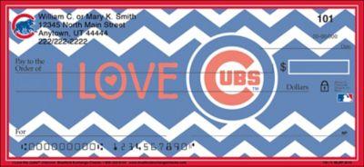 I Love the Cubs(TM) Chevron Personal Checks
