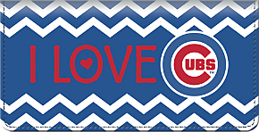 I Love the Cubs Chevron Checkbook Cover