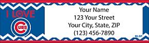 I Love the Cubs Chevron Return Address Label
