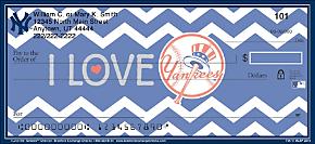 I Love the Yankees(TM) Personal Checks