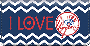 I Love the Yankees(TM) Chevron Checkbook Coverr