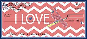I Love the Cardinals(TM) Chevron Personal Checks