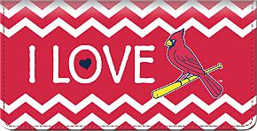 I Love the Cardinals(TM) Chevron Checkbook Cover