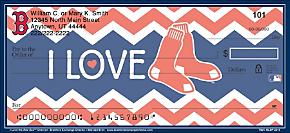 I Love the Red Sox(TM) Chevron Personal Checks