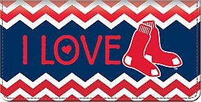 I Love the Red Sox(TM) Chevron Checkbook Cover