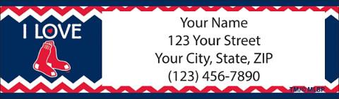 I Love the Red Sox(TM) Chevron Address Labels