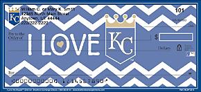 I Love the Royals(TM) Chevron Personal Checks