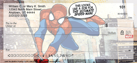Spider-Man Personal Checks 1801239001