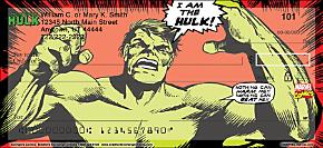 Avengers Comics Personal Checks